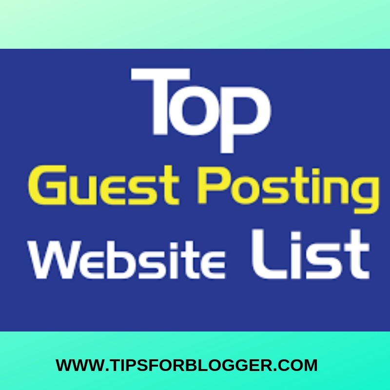 top websites that allow guest posting for blogger
